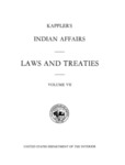 1971 - Kappler's Indian Affairs - Laws and Treaties, Vol VII