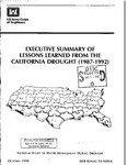 1994 - Executive Summary of Lessons Learned from the California Drought (1987-1992)