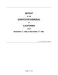 1865 November 1 - 1867 November 1, Houghton Report (Statistics for 1866), Surveyor General's Report to Governor of California