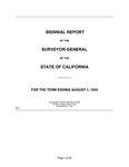 1924 August 1 - Kingsbury Biennial Report, Surveyor General's Report to Governor of California