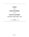 1900 August 1 - 1902 August 1, Wright Report, Surveyor General's Report to Governor of California