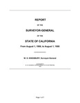 1906 August 1 - 1908 August 1, Kingsbury Report, Surveyor General's Report to Governor of California