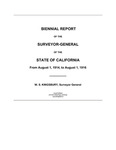 1914 August 1 - 1916 August 1, Kingsbury Biennial Report, Surveyor General's Report to Governor of California