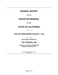 1918 August 1, Kingsbury Biennial Report Including Report on The Torrens Law, Surveyor General's Report to Governor of California