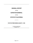 1920 August 1 - Kingsbury Biennial Report, Surveyor General's Report to Governor of California