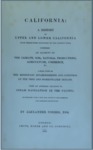1839 – California: A History of Upper and Lower California from Their First Discovery to the Present Time, Alexander Forbes