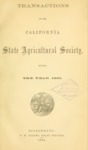 1864 - Report of the California State Agricultural Society for 1863