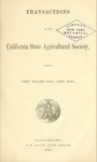 1866 - Report of the California State Agricultural Society for 1864 and1865