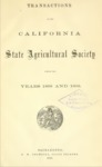 1870 - Report of the California State Agricultural Society for 1868 and 1869