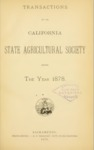 1879 - Report of the California State Agricultural Society for 1878