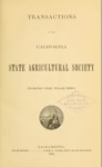 1884 - Report of the California State Agricultural Society for 1883
