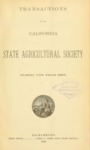 1886 - Report of the California State Agricultural Society for 1885