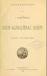 1888 - Report of the California State Agricultural Society for 1887