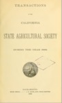 1889 - Report of the California State Agricultural Society for 1888