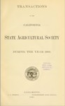 1901 - Report of the California State Agricultural Society for 1900