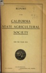 1911 - Report of the California State Agricultural Society for 1910
