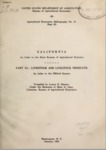 1931 - California - An Index to the State Sources of Agricultural Statistics, Part III, Livestock and Livestock Products
