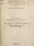 1930 - California - An Index to the State Sources of Agricultural Statistics, Part V – An Index to Some Unofficial Sources