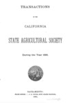 1881 - Report of the California State Agricultural Society for 1881