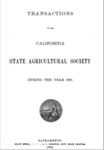 1892 - Report of the California State Agricultural Society for 1891