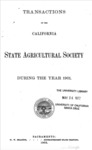 1903 - Report of the California State Agricultural Society for 1901