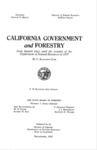1959 - California Government and Forestry from Spanish Days Until the Creation of the Department of Natural Resources in 1927, C. Raymond Clar