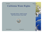 2013 - California Water Rights - CA Water Plan Update