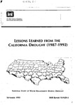 1993 - Lessons Learned from the California Drought (1987-1992) - National Study of Water Management During Drought