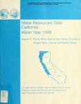 1994 - Water Resources Data California - Pacific Slope BasinsWater Year 1993, Vol. 2