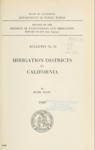 1929 - California Irrigation Districts, Bulletin No. 21