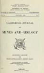 1938 - Quarterly Chapter of State Mineralogist's Report XXXIV, California Journal of Mines and Geology