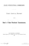 1881 - State Viticultural Commission - First Annual Report