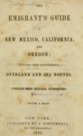 1849 - The Emigrant's Guide to New Mexico, California, and Oregon, John Disturnell