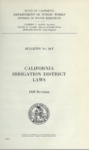 1939 - California Irrigation District Laws, Bulletin No. 18-F