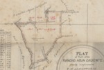 Agua Caliente [in four parts], Thaddeus M. Leavenworth, Diseño  760, GLO No. 67, Sonoma County, and associated historical documents.