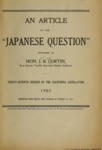 Japanese Pamphlets, Volume IV, 1907-1925
