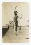 Man performing jump shot