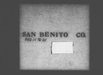 Twelfth Census of the United States: 1900, Schedule No. 1--Population, California, San Benito