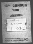 Thirteenth Census of the United States: 1910--Population, California, Santa Clara (Part 1)