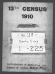 Thirteenth Census of the United States: 1910--Population, California, Santa Cruz (Part 1)