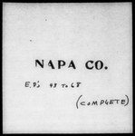 Fourteenth Census of the United States: 1920--Population, California, Napa (Part 1)