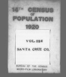 Fourteenth Census of the United States: 1920--Population, California, Santa Cruz (Part 1)