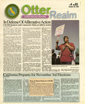 Otter Realm, October 28, 1998, Vol. 4 No. 3 by California State University, Monterey Bay