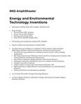 Energy and Environmental Technology Inventions by Robert Danziger