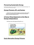 Pioneering Sustainable Energy - Main Page with Pictures by Robert Danziger