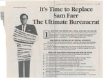 It's Time to Replace Sam Farr, the Ultimate Bureaucrat by Bill McCampbell for Congress