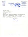 Letter from Nancy Pelosi to Sam Farr, August 5, 1993