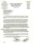 Letter from Sam Farr to John Murtha, August 16, 1994