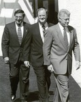 Leon Panetta, Sam Farr, and Bill Clinton at the CSUMB Inauguration Ceremony by Greg Pio