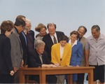 Bill Clinton Signing the Oil and Gas Leasing Moratorium at the National Oceans Conference in Monterey, California